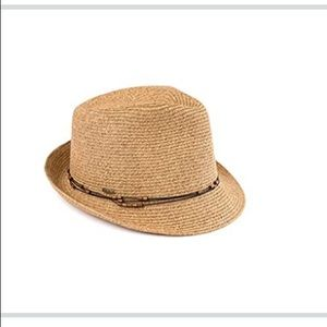 C.C Fedora Natural Color with Beaded Ropes
